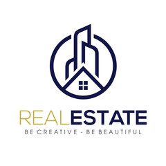 Real Estate & Mortgage, apartment Logo Vector Inspiration