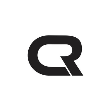 letters cr simple linked line logo