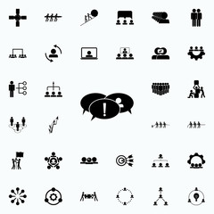 intercourse with exclamations icon. Teamwork icons universal set for web and mobile