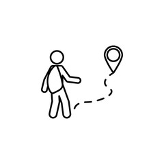 asylum, immigration icon. Element of social problem and refugees icon. Thin line icon for website design and development, app development. Premium icon