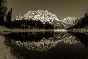 Ansichten Grüner See bei Tragöß in der Steiermark