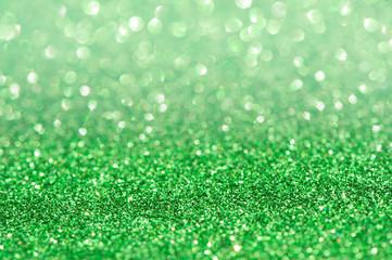 green glitter bokeh