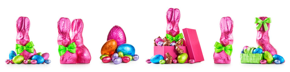 Easter eggs and bunnies set