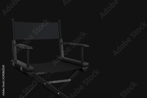 Black Cinema Director Chair  3d Rendering