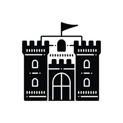 black solid icon of castle