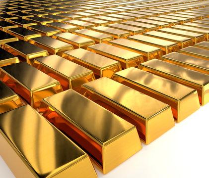 Gold Bar Array
