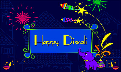 Diwali wallpaper vector illustration