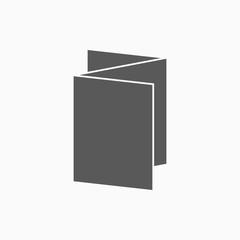 flyer icon, brochure vector