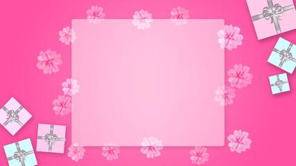 ギフトボックスとリボンの背景 (誕生日、バレンタインデー、母の日 、クリスマス)