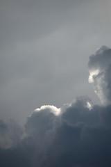 Nuvole bianche sullo sfondo del cielo blu