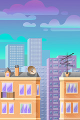 cityscape, cartoon background