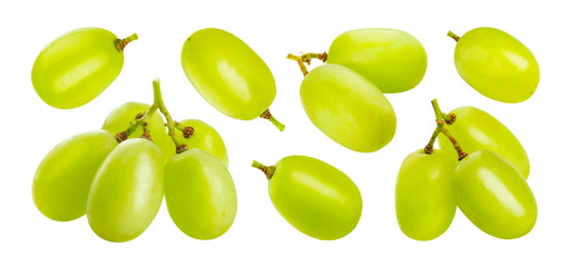 Fototapeta Green grape isolated on white background obraz