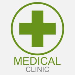 Medical sign symbol. Vector icon. - Vector