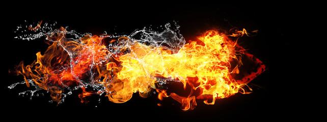 火と水が結合した矢印