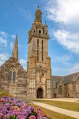 Pleyben. Eglise saint Germain dans l'enclos paroissial . Finistère. Bretagne