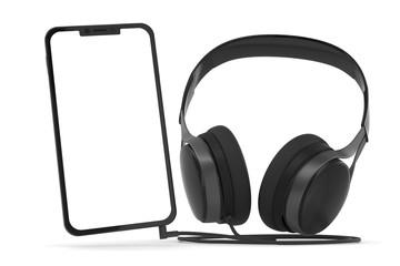 3D Illustration Smartphone Musik hören