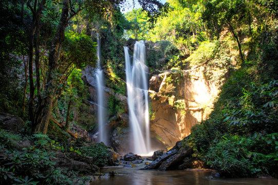 Morkfa waterfall close to Chiang Mai, Thailand