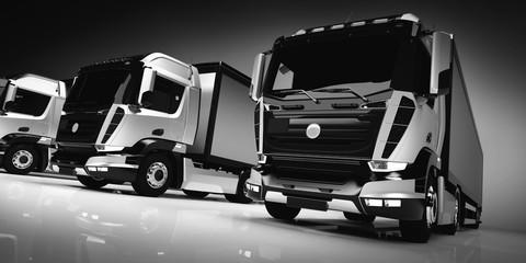 Fleet of modern trucks