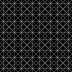 Vector seamless geometric pattern. Grid texture. Black-and-white background. Monochrome design. Vector EPS 10