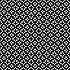 Vector seamless pattern. Geometric texture. Black-and-white background with crosses, plus signs. Monochrome square design. Vector EPS 10