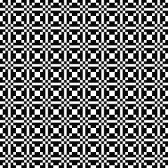 Vector seamless geometric pattern. Simple texture of squares. Black-and-white background. Monochrome design. Vector EPS 10