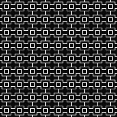 Vector seamless geometric pattern. Line texture. Black-and-white background. Monochrome design. Vector EPS 10