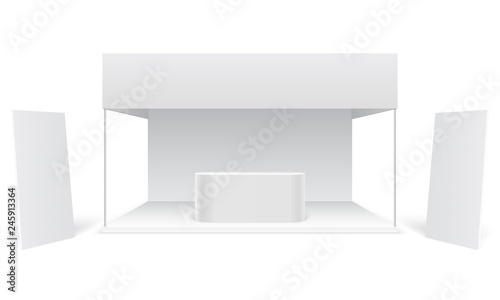 Exhibition Booth Blank : Exhibition booth d render of a blank trade exhibition booth with