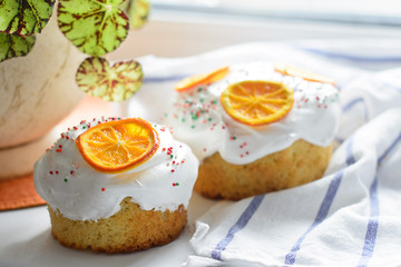 Easter cake with oranges