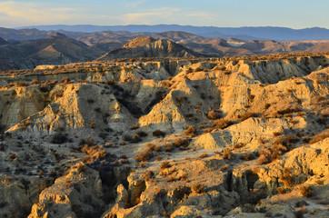 Badlands of Tabernas Desert Almeria Andalusia Southeastern Spain Europe