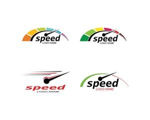 speed logo icon design illustration vector