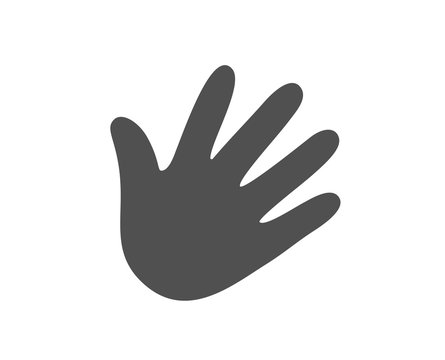 Hand wave icon. Palm sign. Quality design element. Classic style icon. Vector