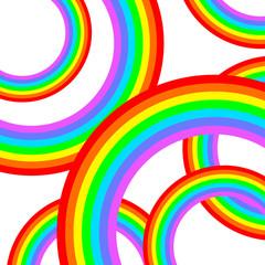 沢山の虹の輪