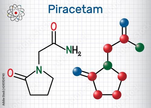 Phenylpiracetam nootropic drug molecule  It is a phenylated