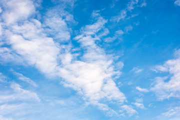 A beautiful view of stratus clouds with a clear blue sky in the background
