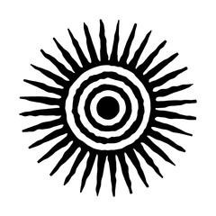 Sun icon. Sun symbol for design. Vector and illustration print.