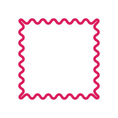 Zigzag frame vector illustration