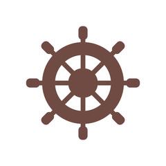 Ship Rudder Vector Illustration