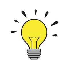 Vector illustration of enlightenment tool bulb
