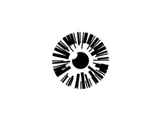 Eyeball vector symbol design
