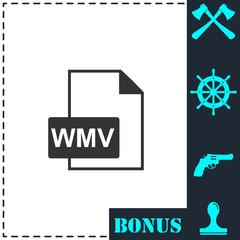 WMV icon flat