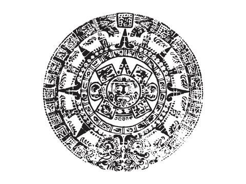 maya calendar vector illustration