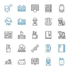 college icons set