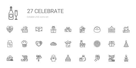 celebrate icons set