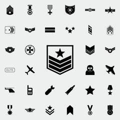 military badge on the sleeve icon. Army icons universal set for web and mobile