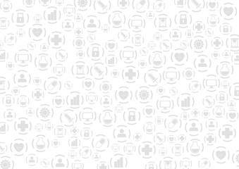 Grey medical icons vector abstract pattern design