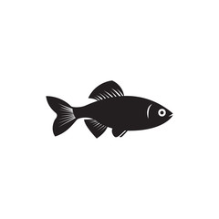 Silhouette of fish vector illustration