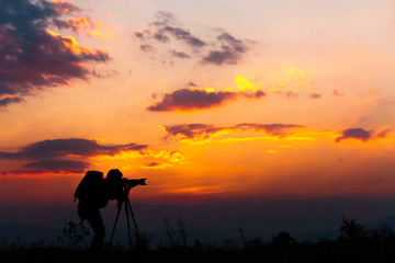 Silhouette Photography Sunset Photography The orange sunset people are shooting