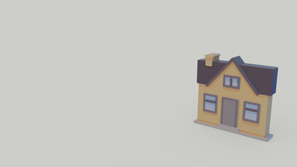 3d icon of house