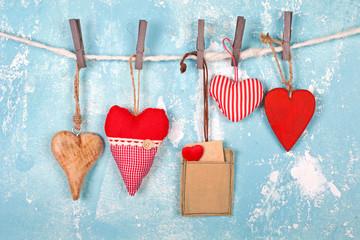 romantische herzen zum Valentinstag