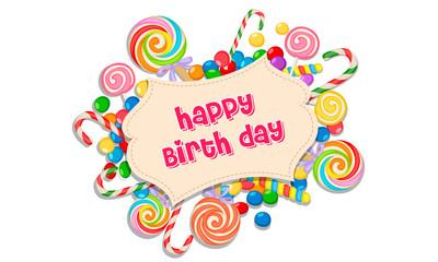 Happy birthday candy greeting